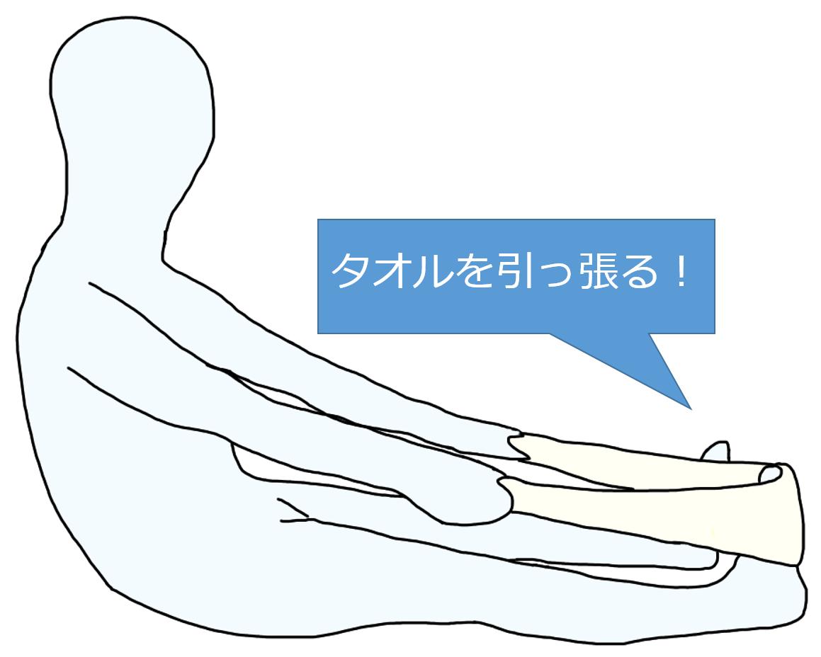 「下腿三頭筋 ストレッチ タオル」の画像検索結果